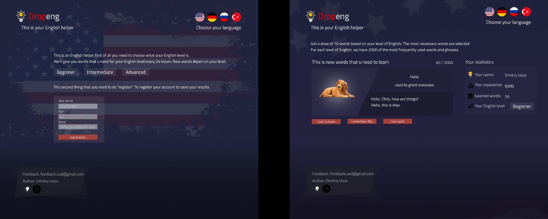 Platform for learning Englsih figma free