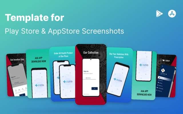 Play store & AppStore Screenshots Template Figma