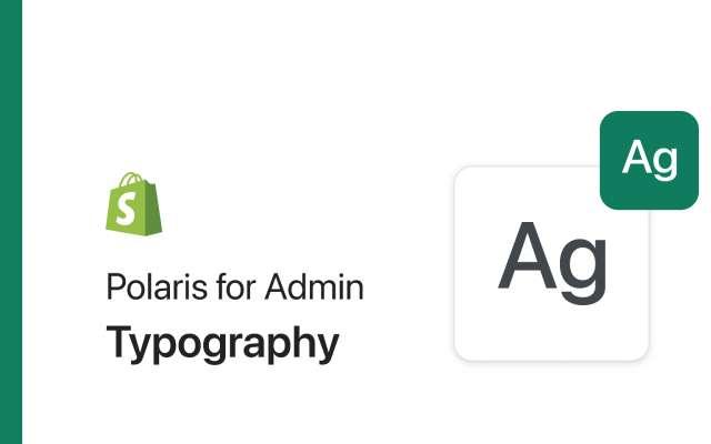 Polaris for Admin: Typography figma
