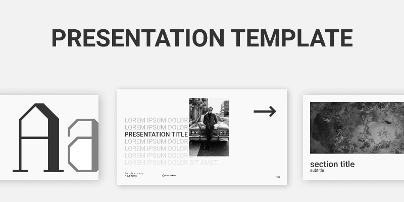 Presentation/A minimalistic presentation template for personal or professional use.