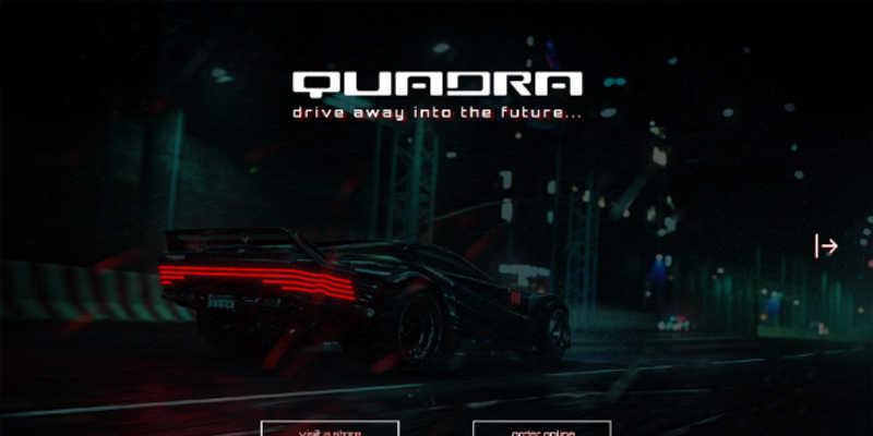 quadra.com - brand's website landing page (Cyberpunk)