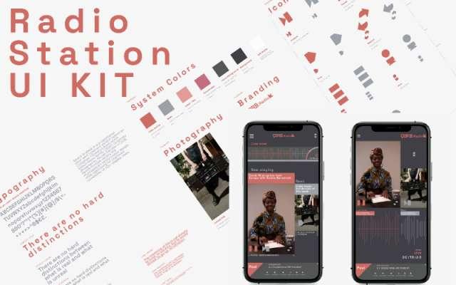 Radio Station ui kit figma template
