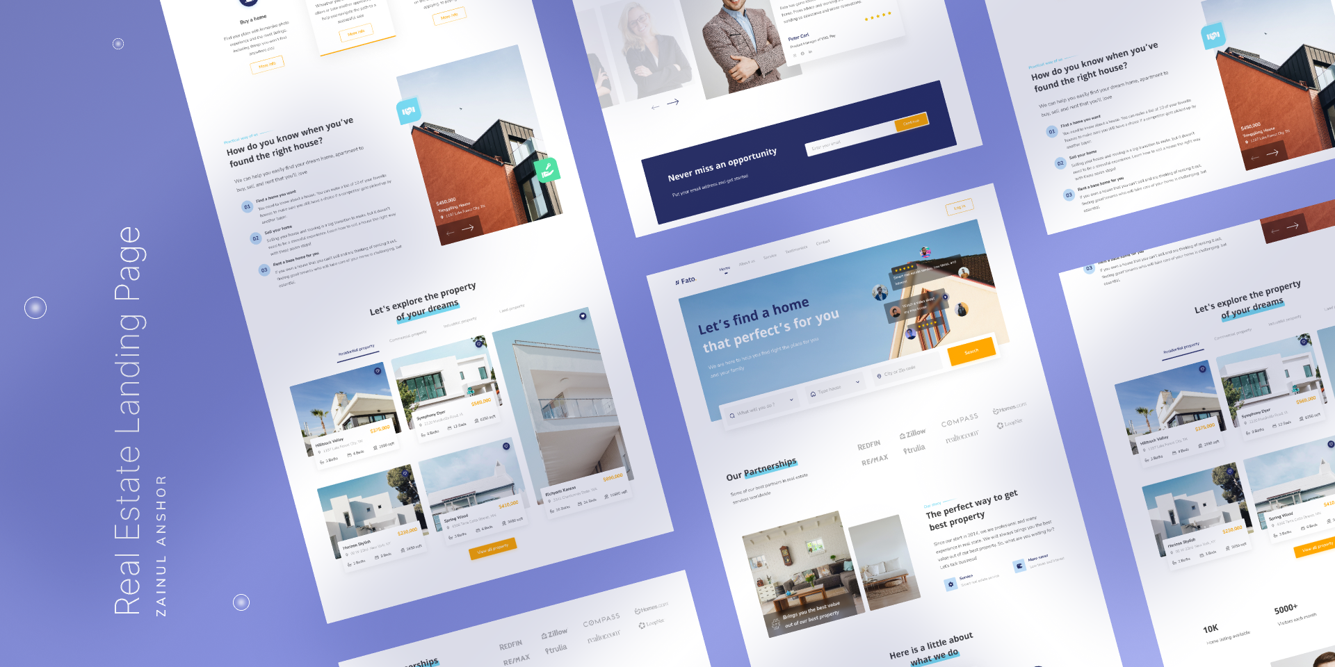 Real Estate Landing Page (Figma Template)