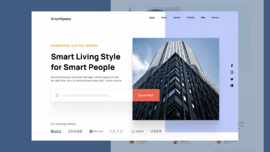Real Estate Landing Page UI Figma Template