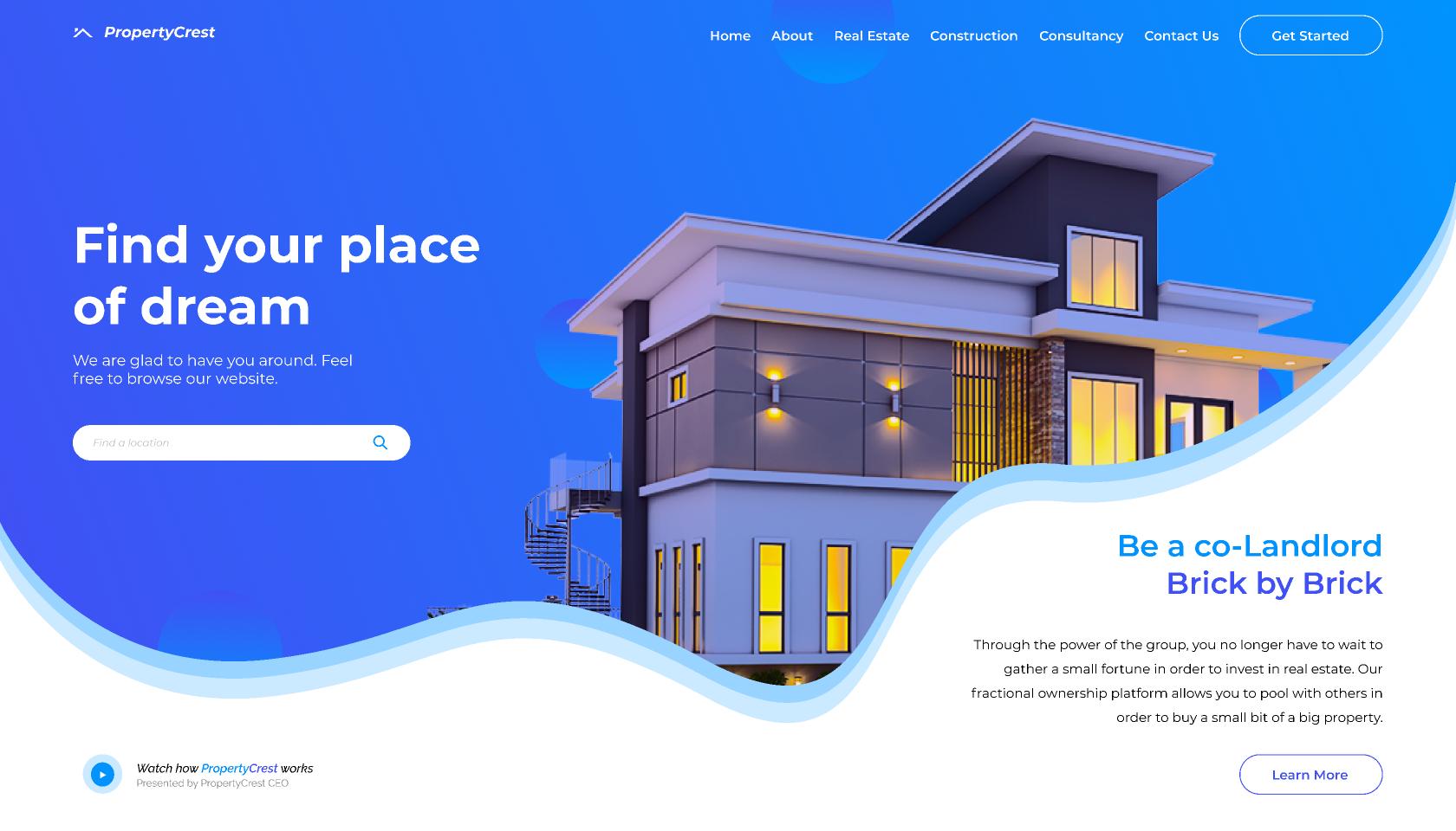 Real Estate Landing Web figma free