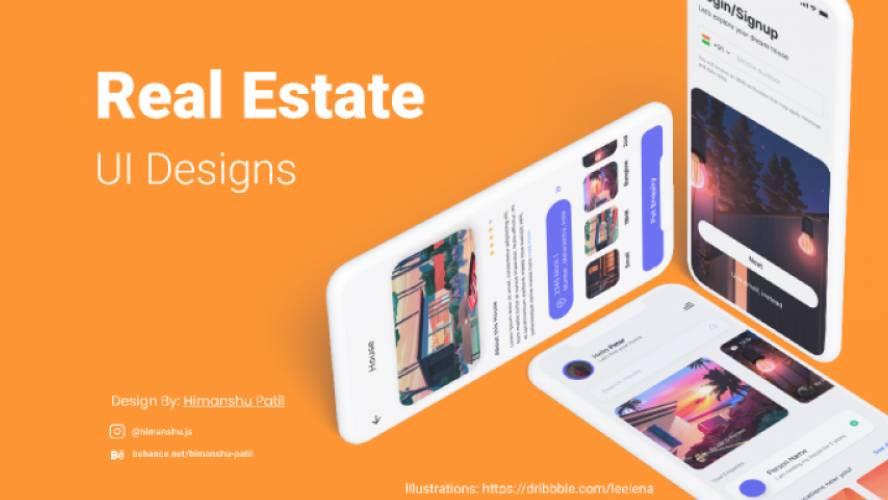 Real Estate Mobile UI Design Figma Template