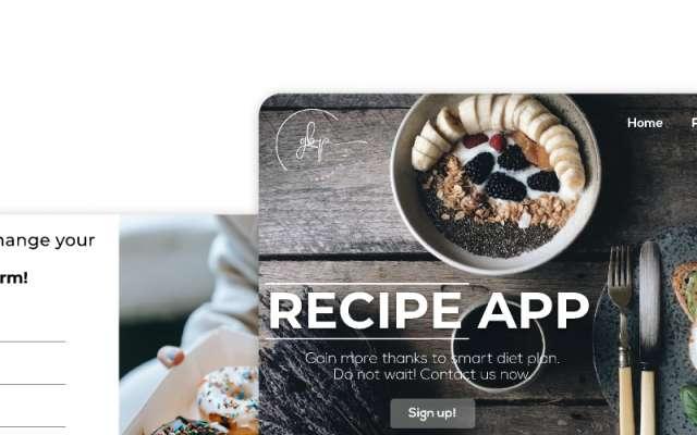 RecipeApp Figma Templates