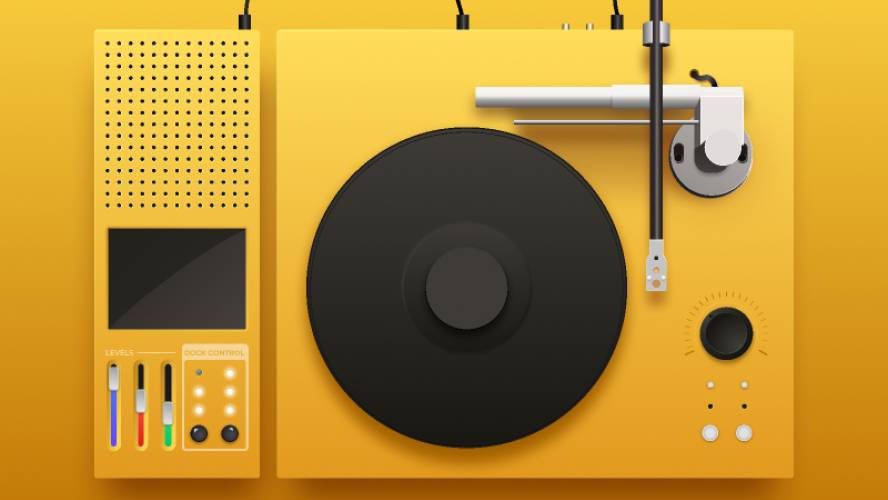 Record Player figma template