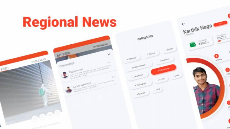 Regional News App Figma design