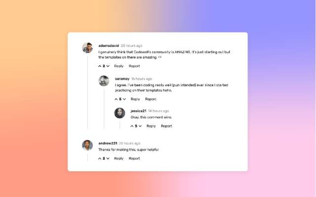Responsive Comment Template