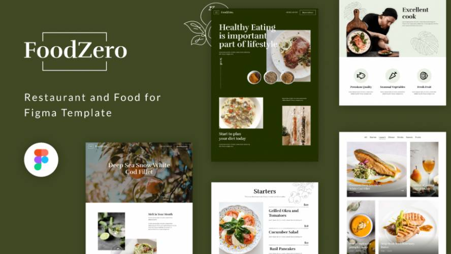 Restaurant and Food for Figma Web Template