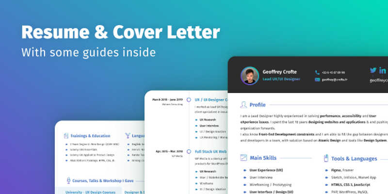 Resume & Cover Letter Template (Figma template)