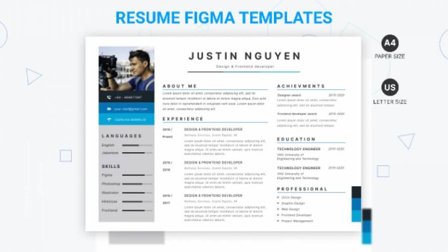 Resume CV figma free