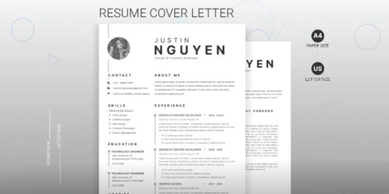 Resume figma templates
