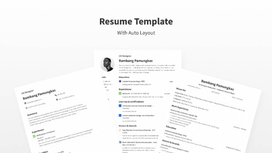 Resume Template With Figma