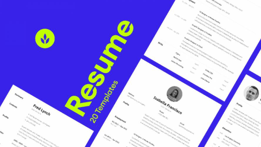 Resume Templates Figma