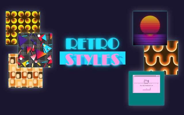 Retro Effects Figma Illustrations