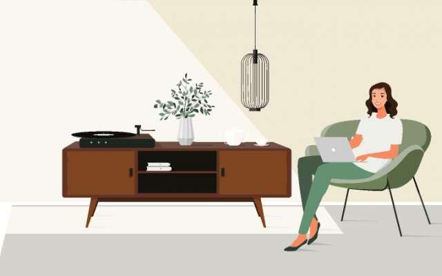 Rooms - Interior Design - Lo-fi Music animation figma
