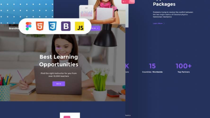 School Aspect - figma free website