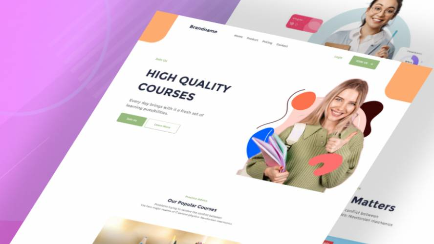 School Sharp - Figma Free Download