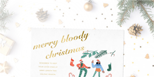 Shimmering Christmas Card Figma Free