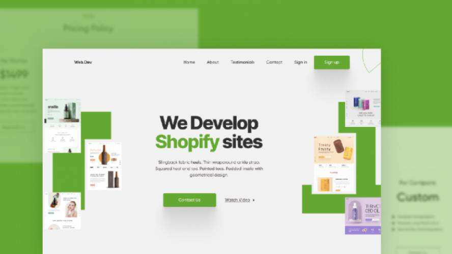 Shopify Landing Page Figma Template