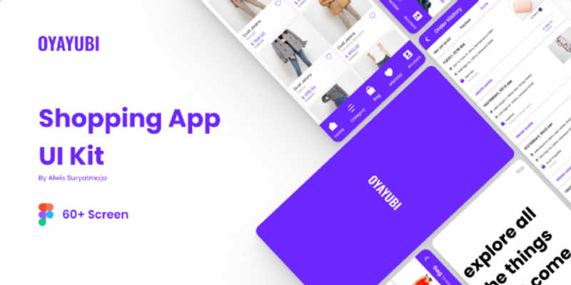 Shopping App UI Kit Figma Template (OYAYUBI)