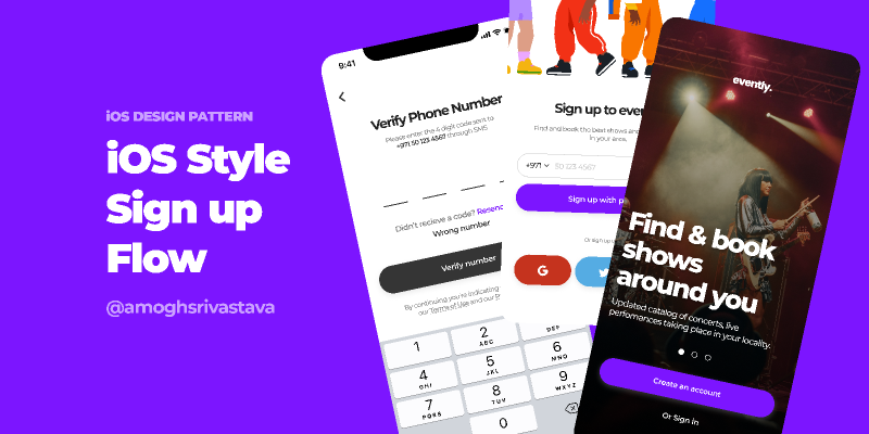Simple iOS Style Sign Up Flow Figma