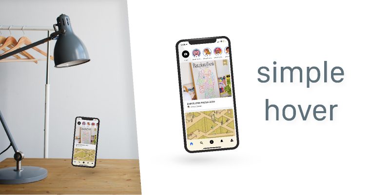Simple Iphone Hover Mockup