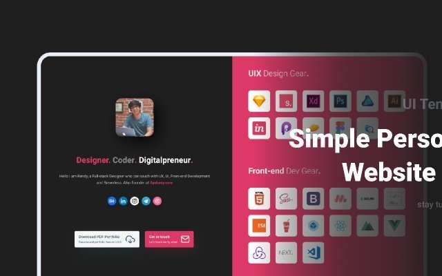 Simple Personal Website figma