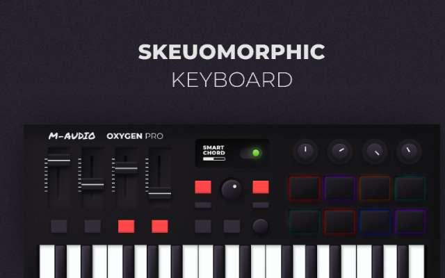 Skeuomorphic Keyboard figma free