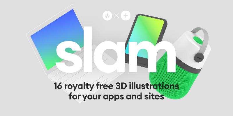 Slam Illustrations Figma