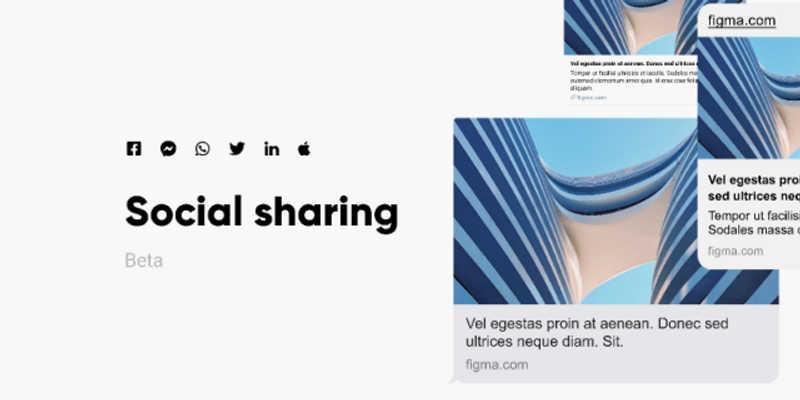 Social Sharing Sample Post (Figma Template)