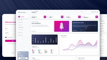 Soft UI Dashboard Free Figma