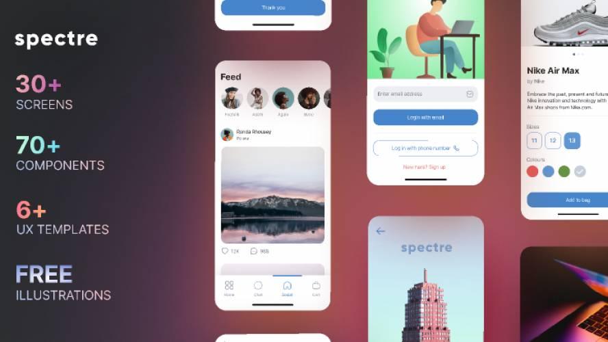 Spectre UI Design Kit figma free template
