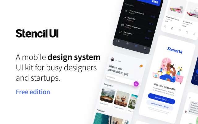 StencilUI Design System Free Edition figma