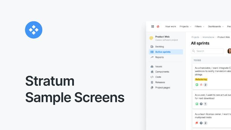 Stratum Sample Screens figma