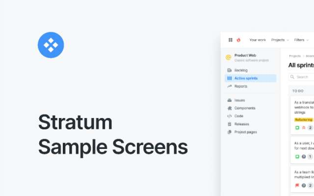 Stratum Sample Screens figma
