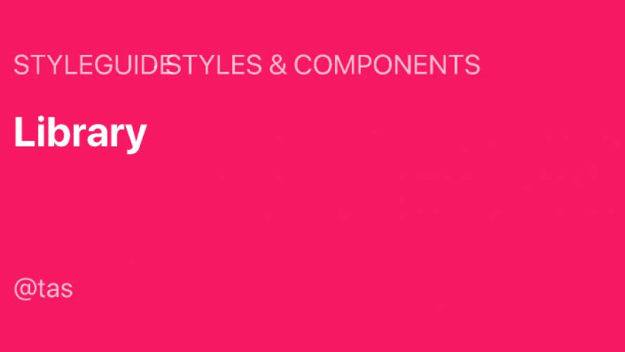 Styleguide - Library