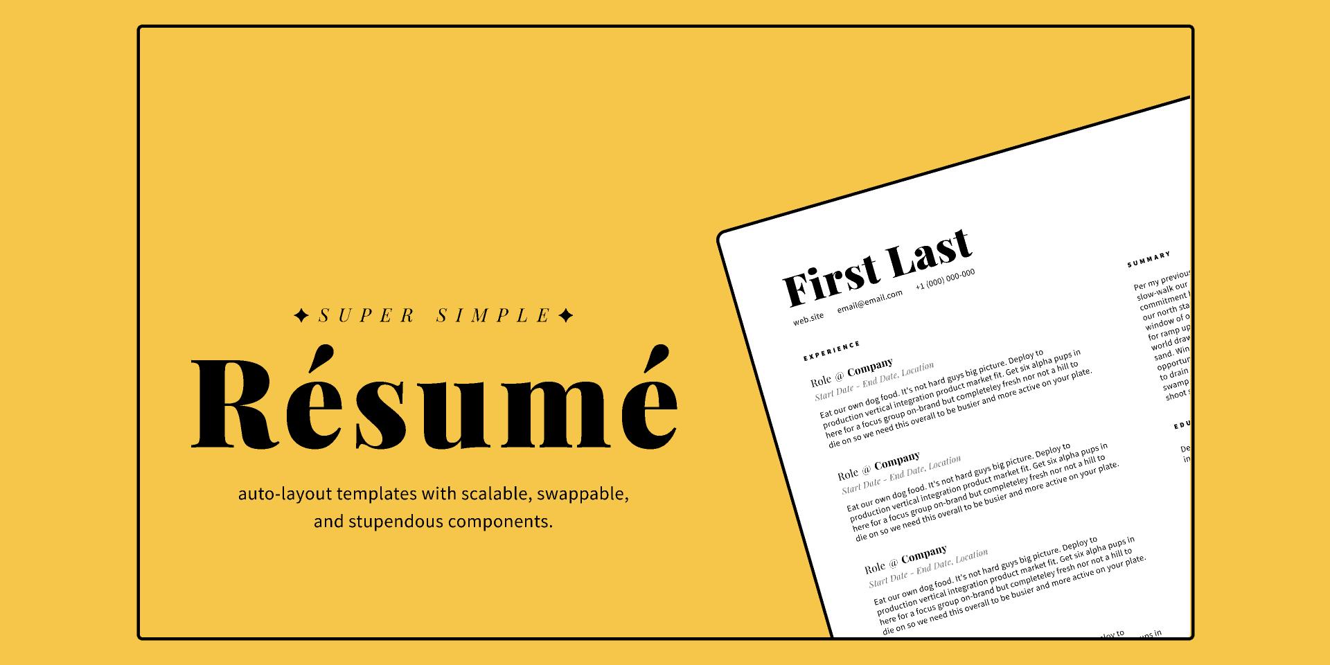 Super Simple Resume Template (Figma Freebie)