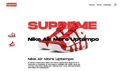 Supreme Store   Loja da Supreme Figma Design Templates