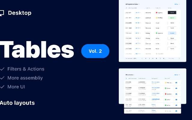 Tables Vol. 2 / Desktop figma