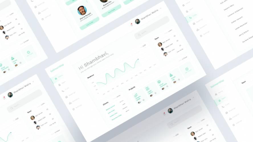 Team Management Dashboard figma template