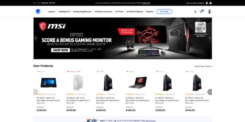 Tech Online Store Design