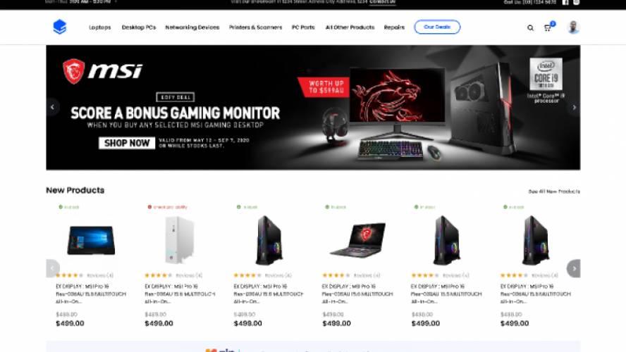 Tech Online Store Design