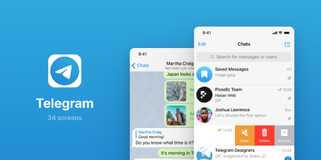 Telegram UI Screens