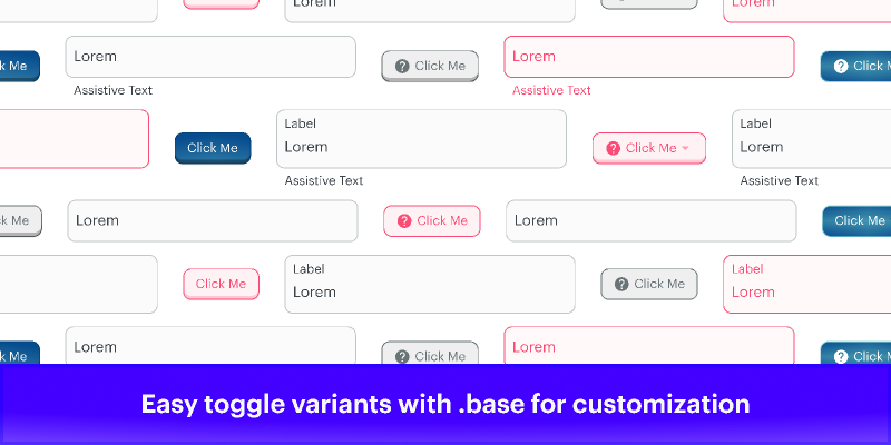 Text Field and Button Variants figma
