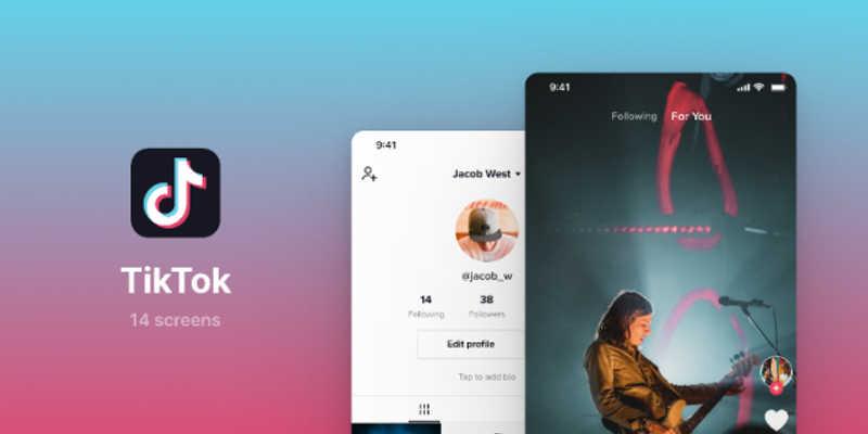 TikTok UI Screens