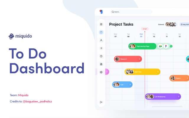 To Do Dashboard Figma Design
