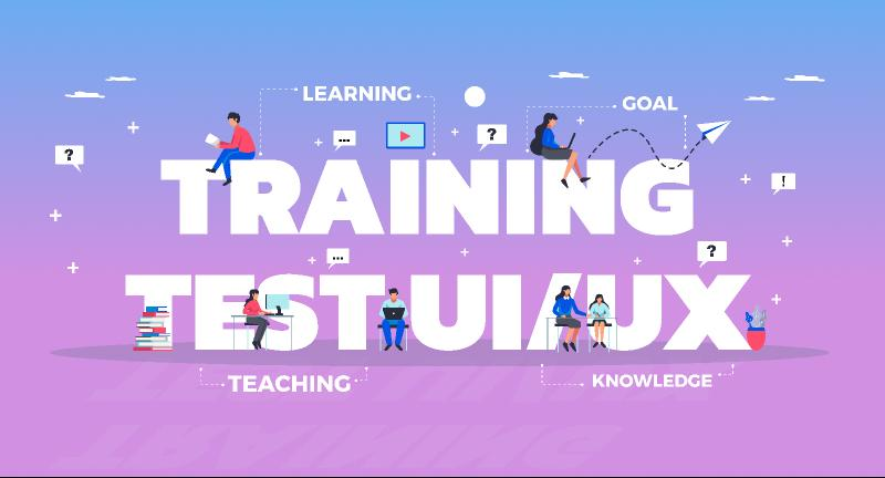 Training Test UI/UX illustrations banner figma